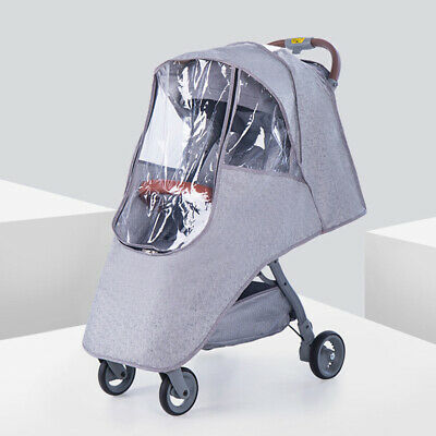 Universal Buggy Rain Cover Raincover Baby Pushchair Stroller Pram Waterproof US