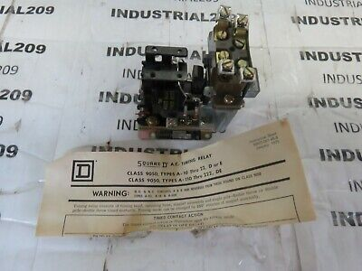 Square D Ac Timing Relay 9050 A010E Ser A New