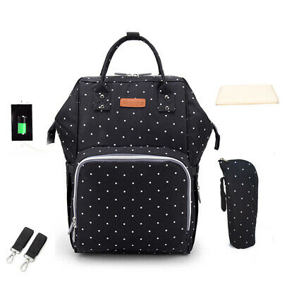 Baby Diaper Bag Backpack Mummy Bag Nappy Bags Multi-function Large Capacity X3K6