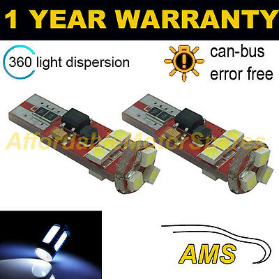 Xenon Blanc 5 SMD 501 T10 W5W Canbus Sans Erreur DEL sidelights High Power UK