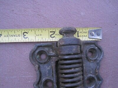 Antique one Old Cast Iron Barn Gate Door Spring Hinge 1800s