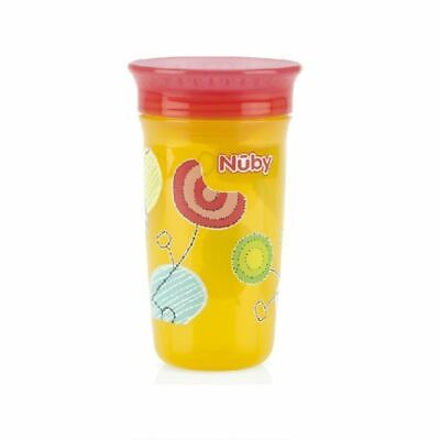 Nuby Active Sipeez 360 Degree Maxi Cup in Yellow with Flowers 6m+ New