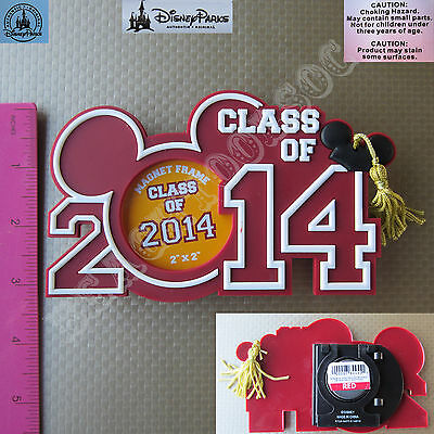 New Authentic Original Disney Mickey Graduation Class 2016 Picture Magnet Frame