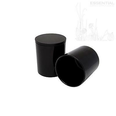 Glass Candle Jar with Lid 200ml Black x12