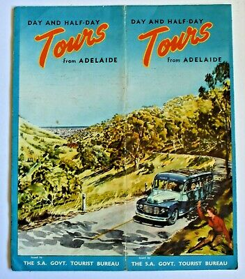 1961 South Australia Government Tourist Burea Tours From Adelaide Brochure