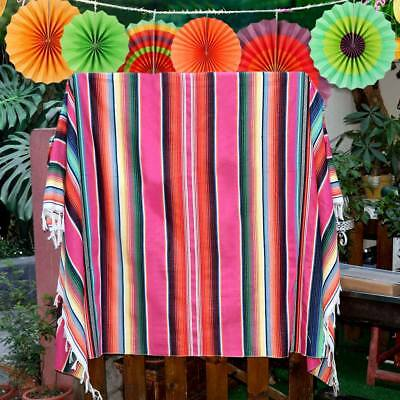 Large Serape Mexican Blanket Saltillo Cotton Table Cloth for Mexican Party Decor