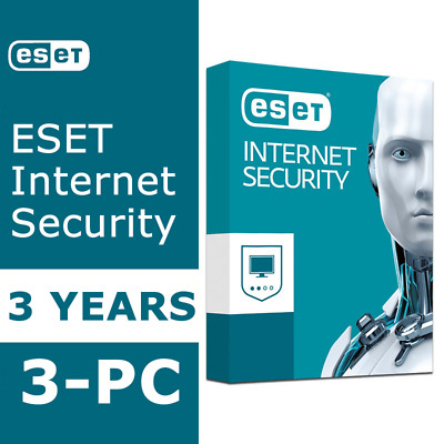 ESET Internet Security 2020 NOD32 Antivirus Instant Delivery 3 Years / 3-PCs