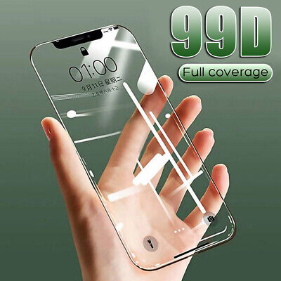 99D Curved FULL COVER TEMPERED GLASS Screen Protector For iPhone 11 Pro Xs Max 8