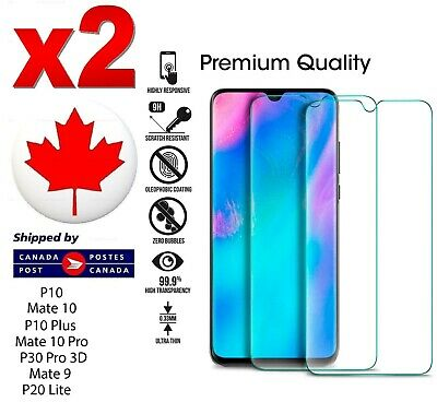 2x TEMPERED GLASS SCREEN PROTECTOR FOR HUAWEI P10 Mate 10 9 P10 Plus P30 Pro P20