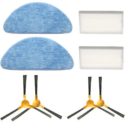 Side Brush + HEPA Filter + Duster Mop Cloth for Proscenic 800T Vacuum Cleaner