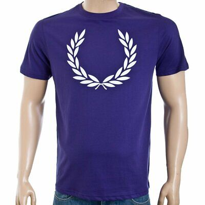 FRED PERRY PRINTED Laurel Wreath T Shirt Stadium Red