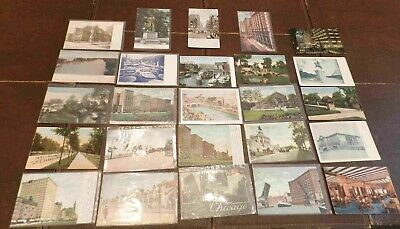Lot of 25 Postcards (Lot 463) Chicago 90 to 100 Year Old Cards