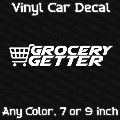 Grocery Getter Sticker Decal for JDM Euro Car Funny Stickers