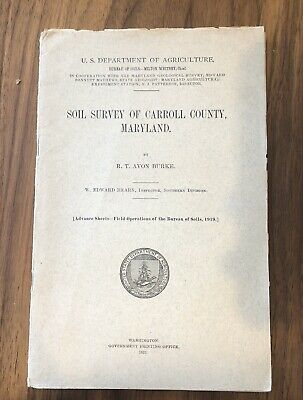 Soil Survey Map Carroll County County Maryland 1922 Color Map - BURKE