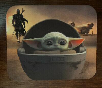 "Baby Yoda Mousepad Star Wars Mandalorian The Child Mouse Pad Non-Slip 8.5"" x 7"""
