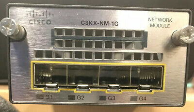 Cisco C3KX-NM-1G 4 Port SFP Gigabit Ethernet Network Uplink Module 3560X CTC