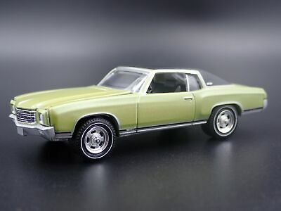 1971 71 Chevy Chevrolet Monte Carlo Ss 454 1:64 Scale Diorama Voiture Miniature