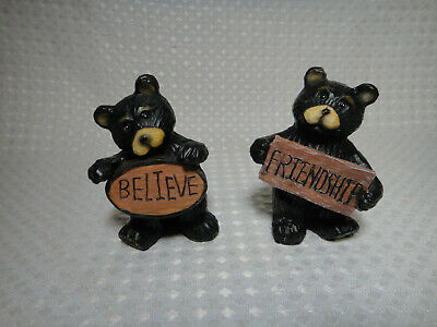 """Black Bear Taking a Short Nap /""""Nappy Time/"""" Solar Light Lamp Welcome Figurine"""