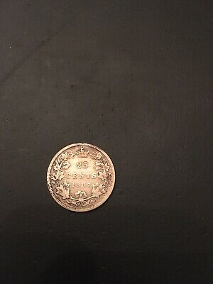 Canada Canadian Queen Victoria 1887 25 Cents Quarter Very Good Rare