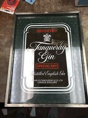 Vintage Tangueray Gin Collectors hanging mirror. Perfect for Man cave. 12x14