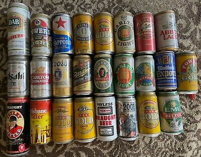 #4 beer cans bulk lot 1970's onwards 25 cans