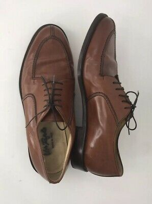 Vito Rufolo Split Toe Oxford Leather Dress Shoes Brown Mens 10.5 M Made in Italy