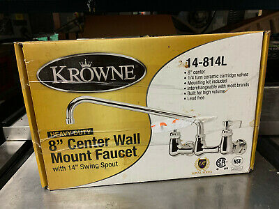 "Krowne 8"" Center Wall Mount Faucet"