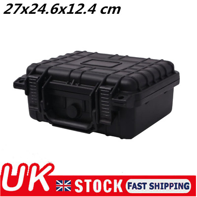 Protective Equipment Hard Carry Case Plastic Box with 3 Removable Foam Black