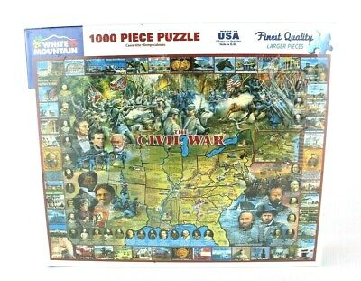Jigsaw puzzle Civil War Battle Field Map 1000 piece NEW Made in USA