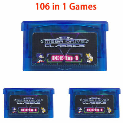 1*Game Card SMS 106in1 Games for Game Boy Advance SP NDS Micro Player Multicart