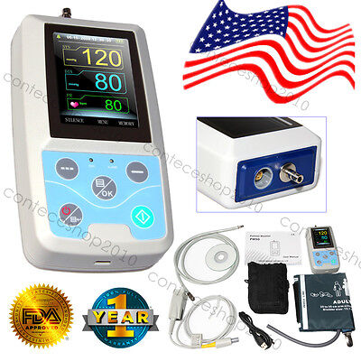Portable Patient Monitor ICU 3-Parameter PC Software Spo2 PR 24H NIBP Holter