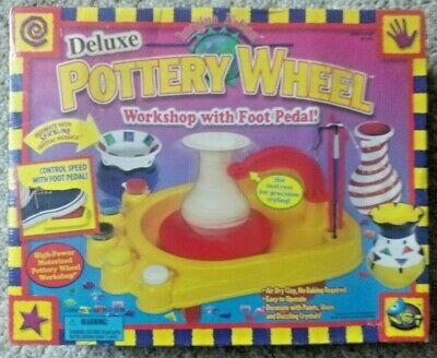 Deluxe Pottery Wheel Workshop With Foot Pedal Easy to Use New!