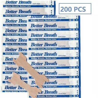 200 X Better Breath Anti Snoring Sleeping Aid Nasal Nose Strips Right Easy Stop