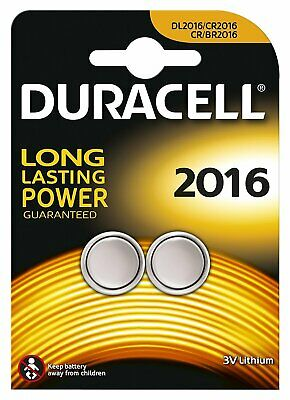 20 x Duracell 3V Lithium Battery CR2016 - 10 Packs