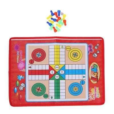 Portable Traditional Ludo Board Game Family Fun Kids Classic Party Game FI