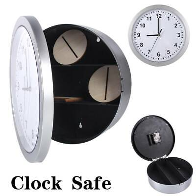 Wall Clock With Secret Safe Container Hidden Stash Jewellery Money Security Box