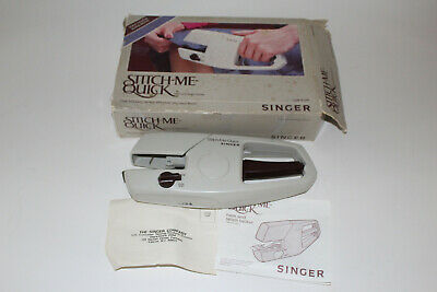 Vintage SINGER Stitch Me Quick Manual Hand Held Sewing Machine