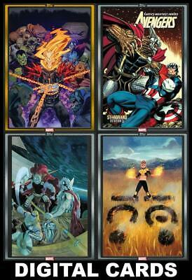 Topps Marvel Collect COMIC BOOK DAY December 18 2019 [4 CARD GOLD/SILVER SET]