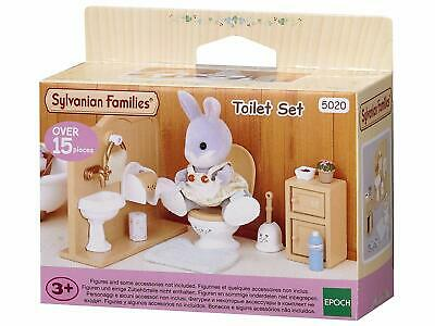 Sylvanian Families Toilet Set Bathroom Furniture Accessories Detailed Role-Play