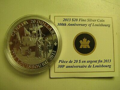 2013 Proof $20 300th Anniversary Louisbourg COIN&COA ONLY Canada .9999 silver tw