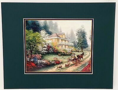 Thomas Kinkade Matted Collector's Print Sunday at Apple Hill 11x14