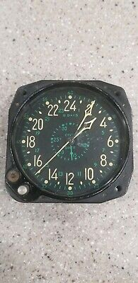 antique Waltham? elgin? US Military Aircraft Cockpit Clock WWII Navy needs work