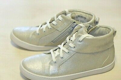 Clarks Silver Leather girls shoes/trainers size kids 2/34 F RRP £45