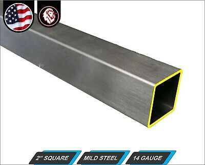 "2"" Square Tube - Cold Formed Mild Steel - 14 gauge - ERW (36"" Long)"