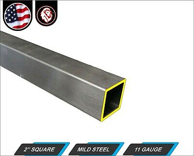 "2"" Square Tube - Cold Formed Mild Steel - 11 gauge - ERW (48"" Long)"