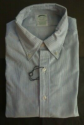 NWOT Brooks Brothers Red University Stripe Cotton Button Down 14.5-34 Trad Fit