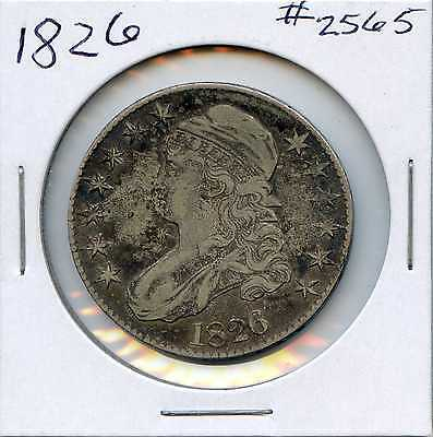 1826 50C Capped Bust Silver Half Dollar. Circulated. Lot #2282