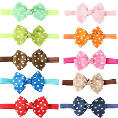 Cute Kids Baby Girl -Toddler Polka Dot Hair Band Headwear Headband Acces RKX