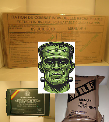 Mre Meal Ready To Eat, Frankenstein Fr Es & Us Racion De Combate. Caducada. Es