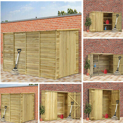 Garden Shed Storage Tool Shed Large Yard Store Wood Roof Building Cabin 36-315cm